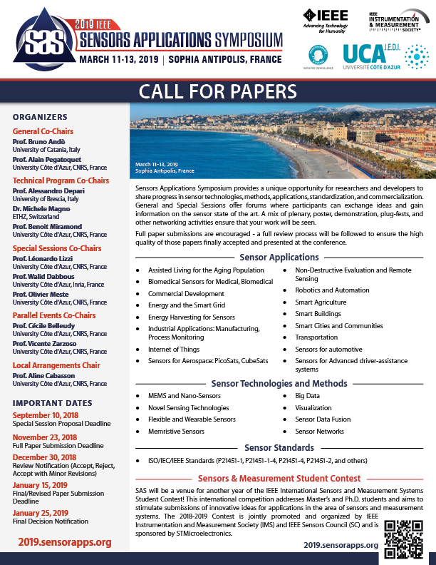 SAS2019 Call for Papers thumbnail